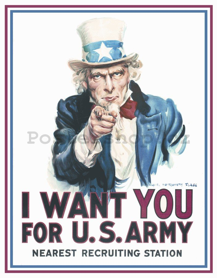Plechová cedule - I Want You For U.S Army!