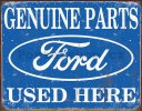 Plechová cedule - Ford (genuine parts used here)