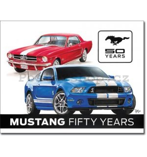 Plechová cedule - Ford Mustang (50th Years)