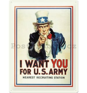 Plechová cedule – I want you for U.S. Army