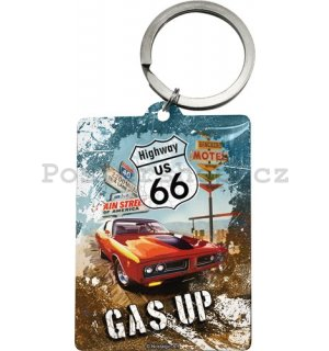 Retro klíčenka – US 66 Gas Up