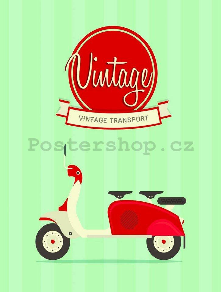 retro deska vintage transport 1 postershop. Black Bedroom Furniture Sets. Home Design Ideas
