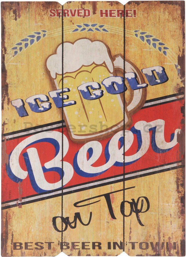 Retro deska – Ice Cold Beer on Tap