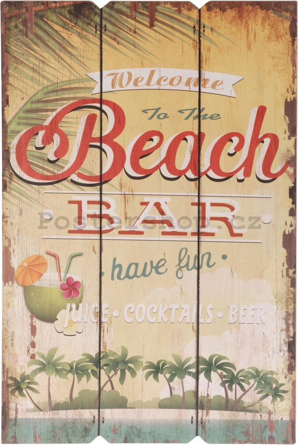 Retro deska – Welcome to the Beach Bar (1)