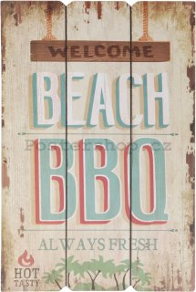Retro deska – Welcome Beach BBQ