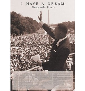 Plakát - Martin Luther King Jr. (I Have A Dream)