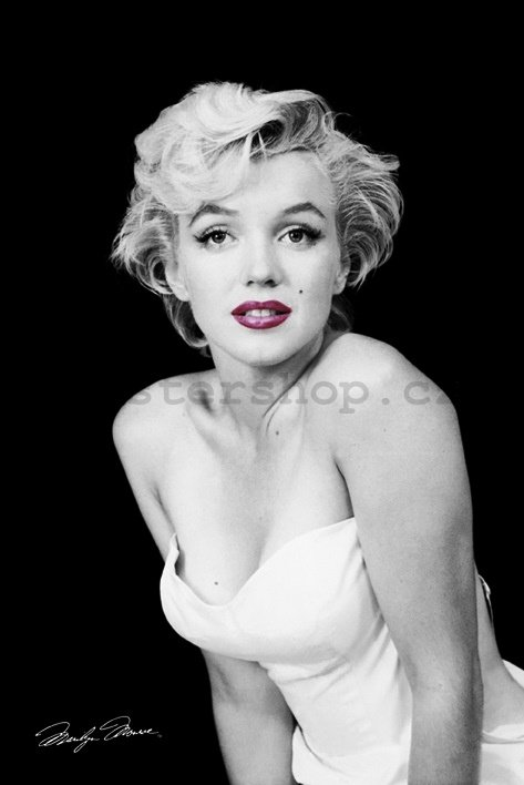 Plakát -Marilyn Monroe (Red Lips)