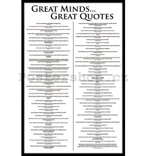 Plakát - Great Minds...Great Quotes