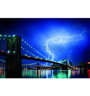 Plakát - Brooklyn Bridge Lightning