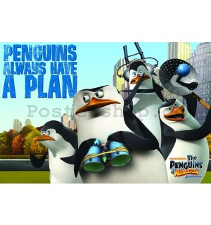 Plakát - Penguins of Madagascar