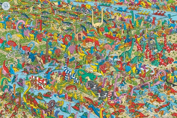 Plakát - Where is Wally (Jurassic Games)