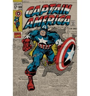 Plakát - Captain America (Retro)