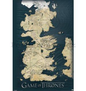 Plakát - Game Of Thrones (Mapa)