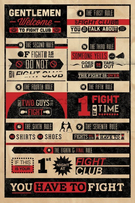 Plakát - Fight Club Rules (Infographic)