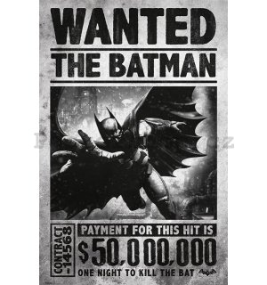 Plakát - Batman Arkham (Wanted)
