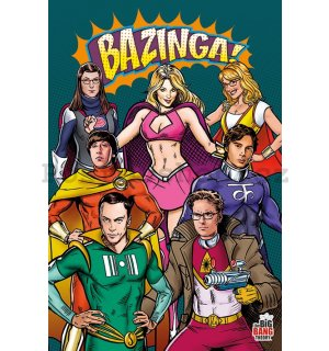 Plakát - The Big Bang Theory (Hrdinové)