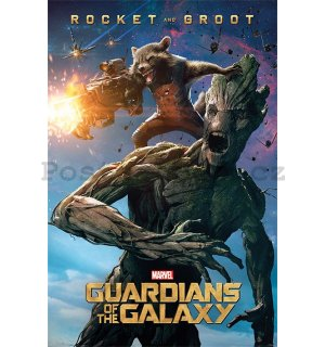 Plakát - Guardians of The Galaxy (Groot & Rocket)