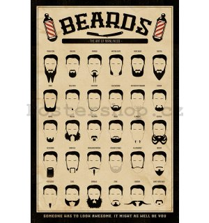 Plakát - Beards (The Art of Manliness)