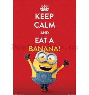 Plakát - Mimoni (Keep Calm and Eat Banana!)