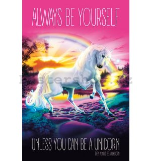 Plakát - Unicorn  (Always be Yourself)