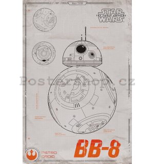 Plakát - Star Wars VII (BB-8)
