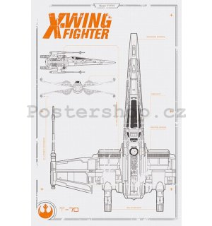 Plakát - Star Wars VII (X-Wing)