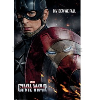 Plakát - Captain America Civil War (Divided We Fall)