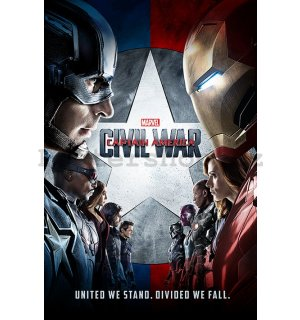 Plakát - Captain America Civil War (United We Stand, United We Fall)