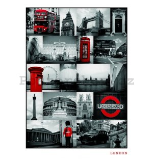 Plakát - London (RED COLLAGE)