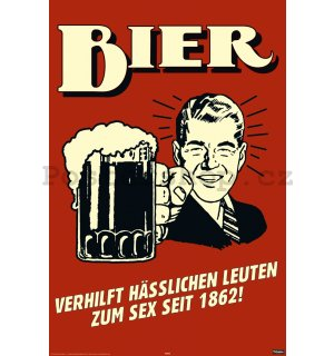 Plakát - German Retro Spoof Bier