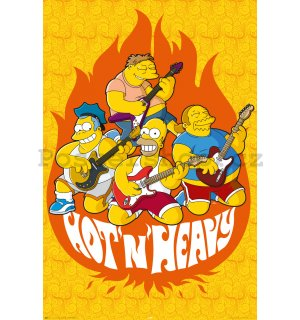 Plakát - Simpsons hot and heavy
