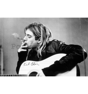 Plakát - Kurt Cobain Smoking
