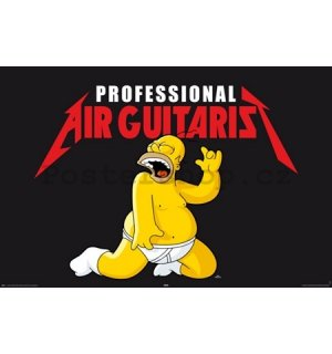Plakát - Simpsons air guitarist