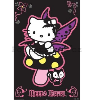 Plakát - Hello Kitty gothic