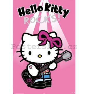 Plakát - Hello Kitty rock