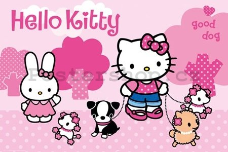 Plakát - Hello Kitty (Dog)