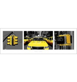 Plakát - New York yellow triptych