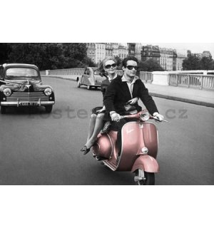 Plakát - Paris scooter
