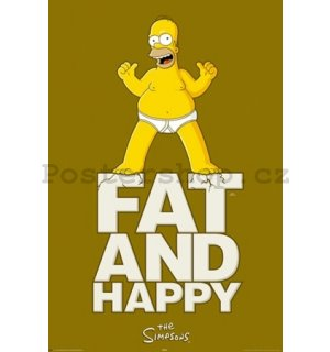 Plakát - Simpsons fat and happy (1)
