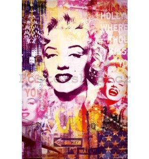 Plakát - Marilyn Monroe city collage