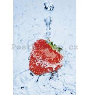 Plakát - Strawberry on ice