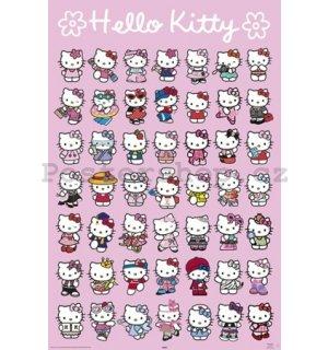 Plakát - Hello Kitty (Characters)