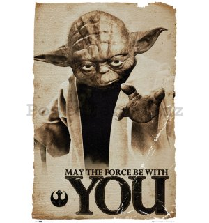 Plakát - Star Wars - Yoda (May the force be with you)