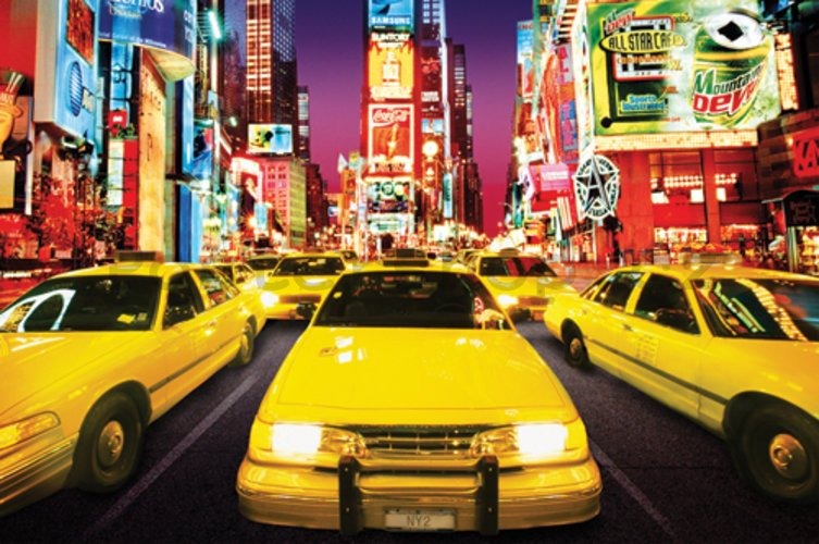 Plakát - New York Taxi (Times Square)
