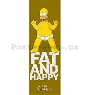 Plakát - Simpsons fat and happy (2)