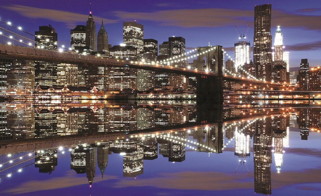 Fototapeta: Noční Brooklyn Bridge (2) - 254x368 cm