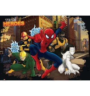 Fototapeta: Team Heroes Spiderman - 254x368 cm