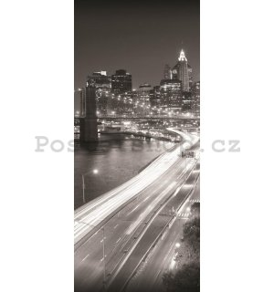 Fototapeta: Černobílý Brooklyn Bridge (1) - 211x91 cm