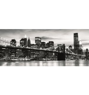 Fototapeta: Brooklyn Bridge (černobílý) - 104x250 cm