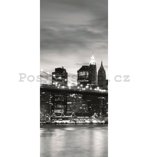 Fototapeta: Brooklyn Bridge (černobílý) - 211x91 cm